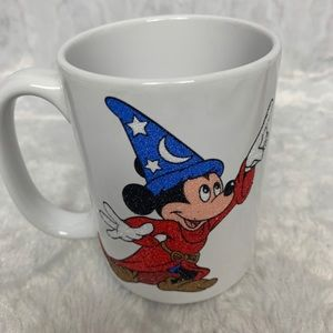 Sorcerer Mickey Embossed Glittered Walt Disney Wor
